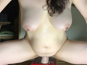 Perfect Big Tits 22cm Big Toy Ride - Balls Deep